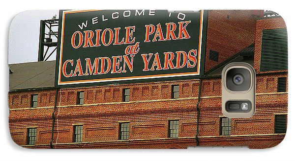 Oriole Galaxy S7 Case - Baltimore Orioles Park At Camden Yards by Frank Romeo