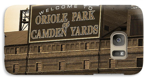 Oriole Galaxy S7 Case - Baltimore Orioles Park At Camden Yards Sepia by Frank Romeo