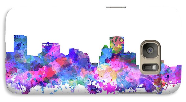 Galaxy Case featuring the painting Baltimore Skyline Watercolor 4 by Bekim Art