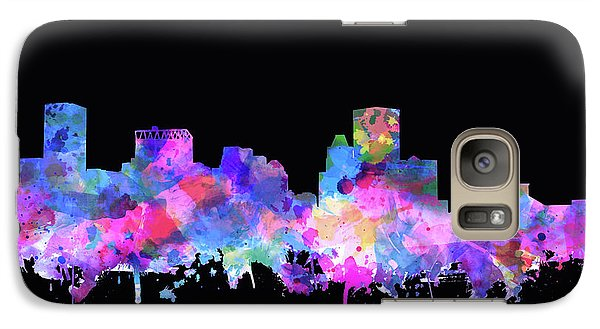 Galaxy Case featuring the painting Baltimore Skyline Watercolor 5 by Bekim Art