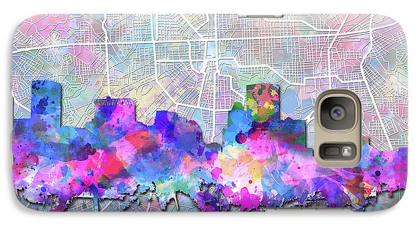 Galaxy Case featuring the painting Baltimore Skyline Watercolor 6 by Bekim Art
