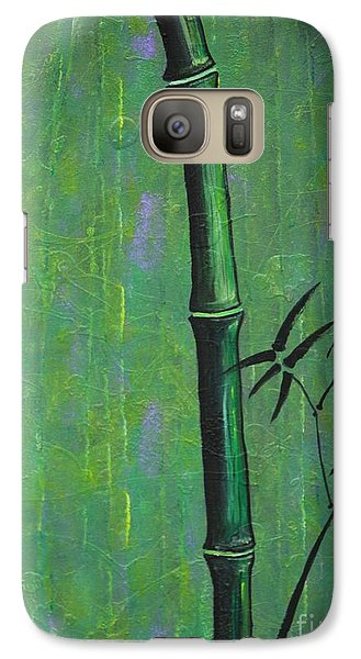 Galaxy Case featuring the painting Bamboo by Jacqueline Athmann