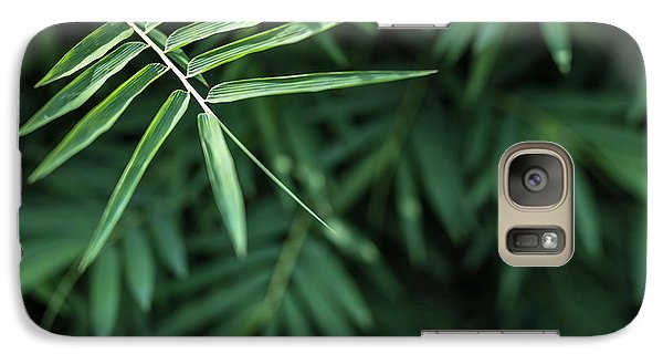 Galaxy Case featuring the photograph Bamboo Leaves Background by Jingjits Photography