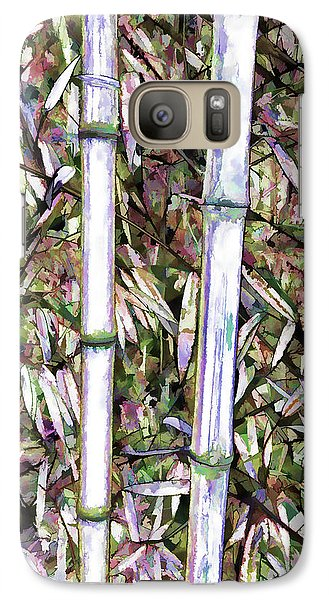 Galaxy Case featuring the painting Bamboo Stalks by Lanjee Chee