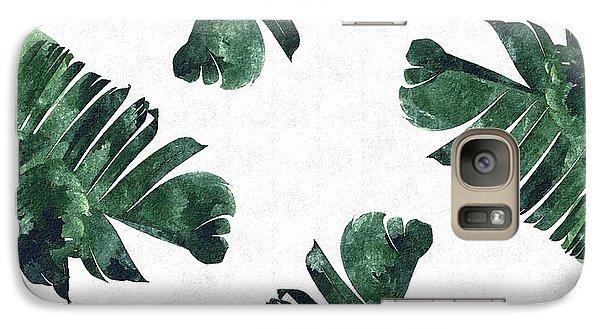 Banan Leaf Watercolor Galaxy S7 Case