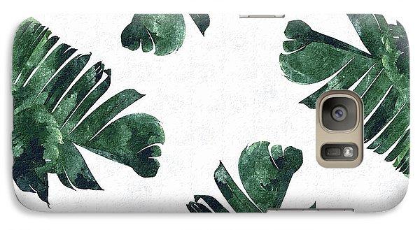 Banan Leaf Watercolor Galaxy Case by Uma Gokhale