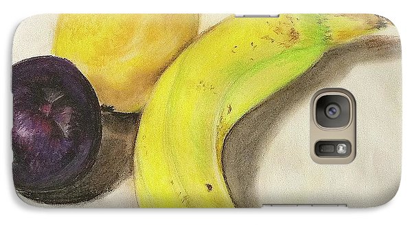 Galaxy Case featuring the pastel Banana And Company by Sheron Petrie