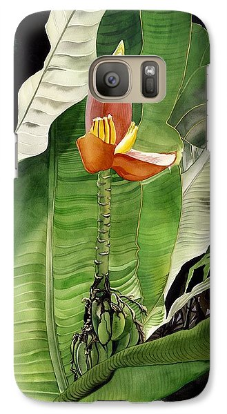 Galaxy Case featuring the painting Banana Blossom by Alfred Ng