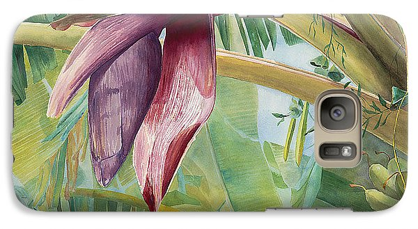 Galaxy Case featuring the painting Banana Flower by AnnaJo Vahle