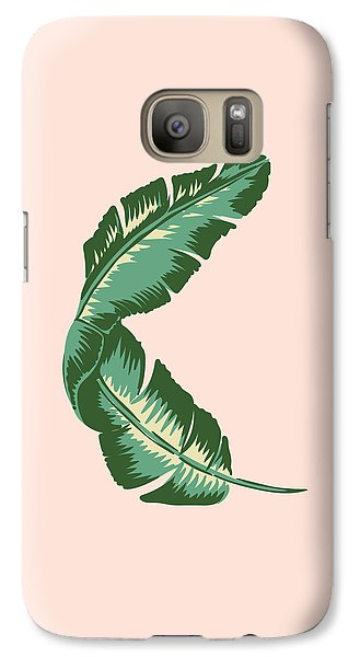 Banana Leaf Square Print Galaxy Case by Lauren Amelia Hughes