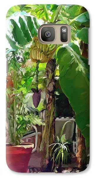 Galaxy Case featuring the painting Banana Tree by David  Van Hulst
