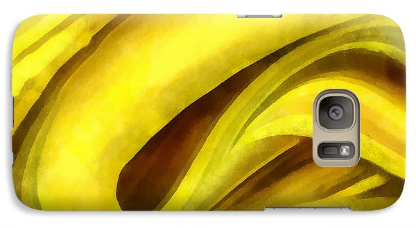 Galaxy Case featuring the digital art Banana With Chocolate by Francesa Miller