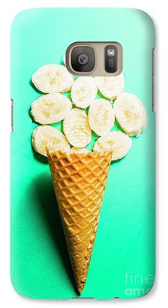 Banana Galaxy S7 Case - Bananas Over Sorbet by Jorgo Photography - Wall Art Gallery