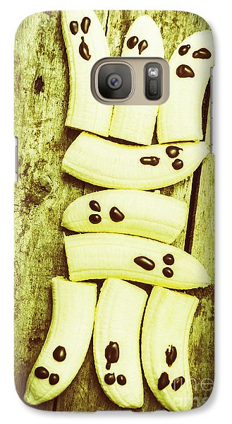 Banana Galaxy S7 Case - Bananas With Painted Chocolate Faces by Jorgo Photography - Wall Art Gallery