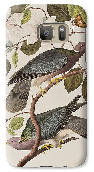 Band-tailed Pigeon  Galaxy S7 Case by John James Audubon