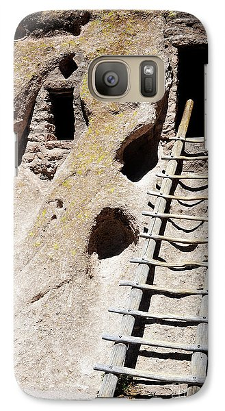 Galaxy Case featuring the photograph Bandelier Desert Ladder by Andrea Hazel Ihlefeld