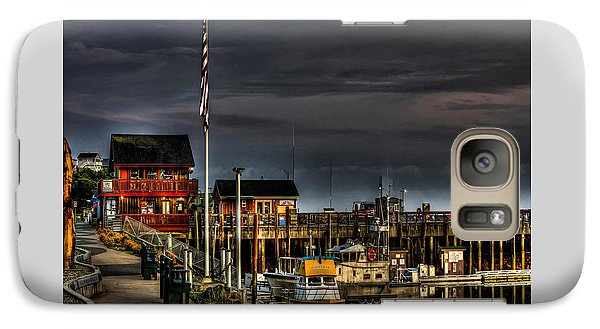 Galaxy Case featuring the photograph Bandon Boat Basin At Dawn by Thom Zehrfeld