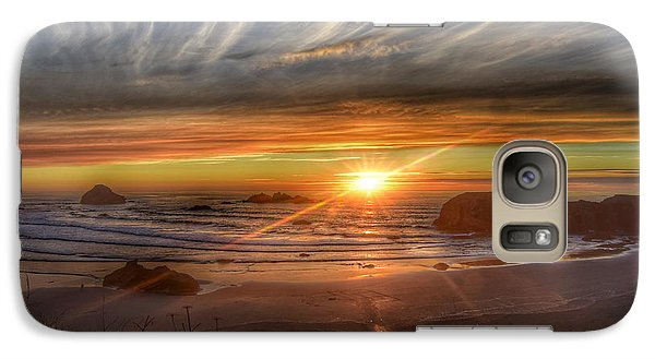 Galaxy Case featuring the photograph Bandon Sunset by Bonnie Bruno