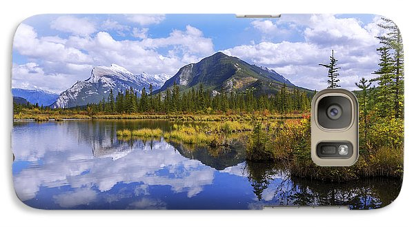 Galaxy Case featuring the photograph Banff Reflection by Chad Dutson