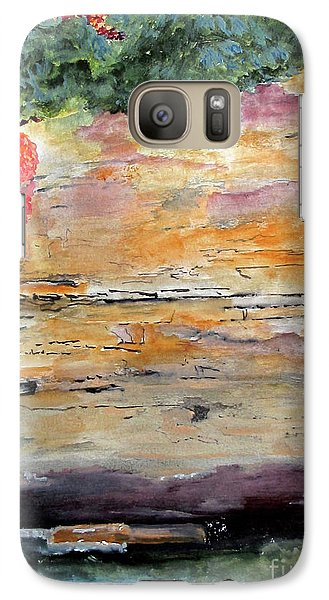 Galaxy Case featuring the painting Bank Of The Gauley River by Sandy McIntire
