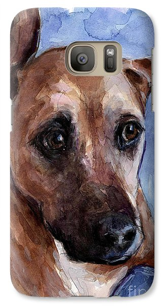 Galaxy Case featuring the painting Banks by Molly Poole