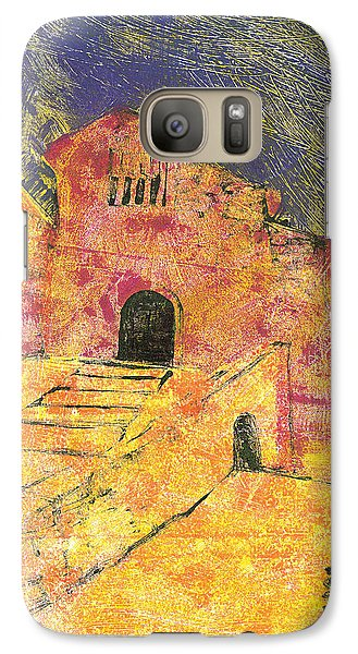 Galaxy Case featuring the painting Banon Village In Provence by Martin Stankewitz