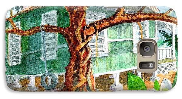 Galaxy Case featuring the painting Banyan In The Backyard by Eric Samuelson