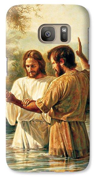 Religion Galaxy S7 Case - Baptism Of Christ by Greg Olsen