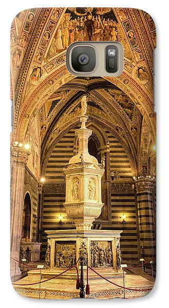 Galaxy Case featuring the photograph Baptistery Siena Italy by Joan Carroll