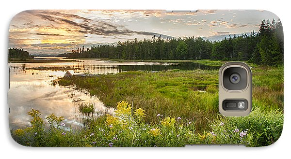 Galaxy Case featuring the photograph Bar Harbor Maine Sunset One by Kevin Blackburn