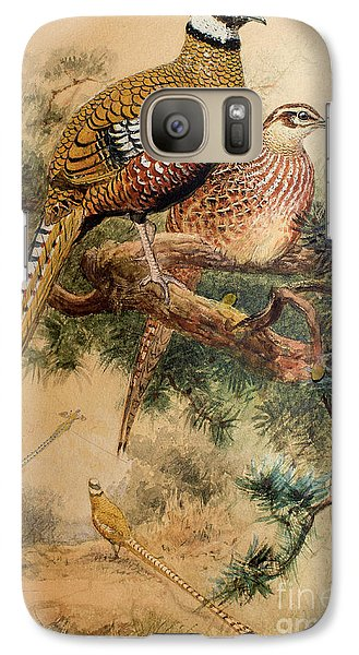 Bar-tailed Pheasant Galaxy S7 Case by Joseph Wolf