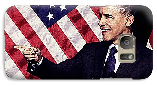 Barack Obama Galaxy S7 Case by Iguanna Espinosa