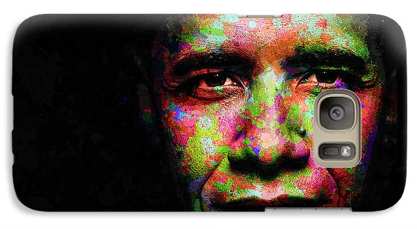 Galaxy Case featuring the mixed media Barack Obama by Svelby Art