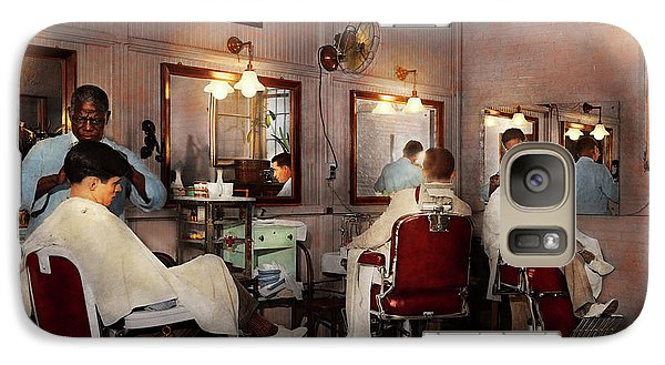 Galaxy Case featuring the photograph Barber - Senators-only Barbershop 1937 by Mike Savad