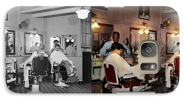 Galaxy Case featuring the photograph Barber - Senators-only Barbershop 1937 - Side By Side by Mike Savad