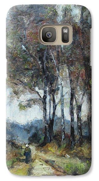 Galaxy Case featuring the painting Barbizon Road by Debora Cardaci