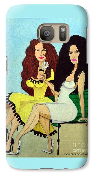 Galaxy Case featuring the painting Barcelona Girls by Don Pedro De Gracia
