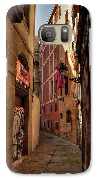 Galaxy Case featuring the photograph Barcelona - Gothic Quarter 003 by Lance Vaughn
