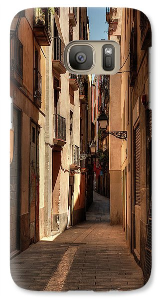 Galaxy Case featuring the photograph Barcelona - Gothic Quarter 004 by Lance Vaughn