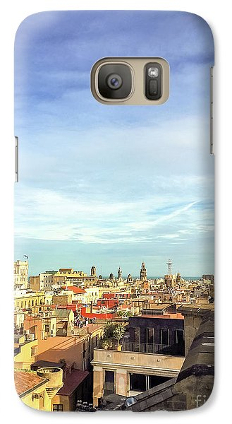 Galaxy Case featuring the photograph Barcelona Rooftops by Colleen Kammerer