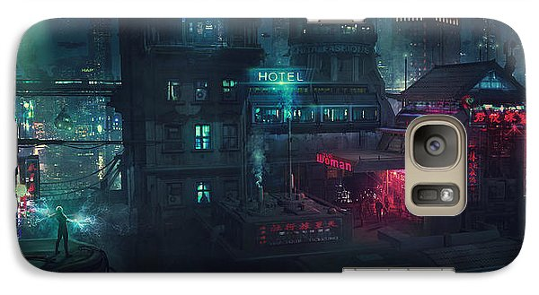 Barcelona Galaxy S7 Case - Barcelona Smoke And Neons Eixample by Guillem H Pongiluppi