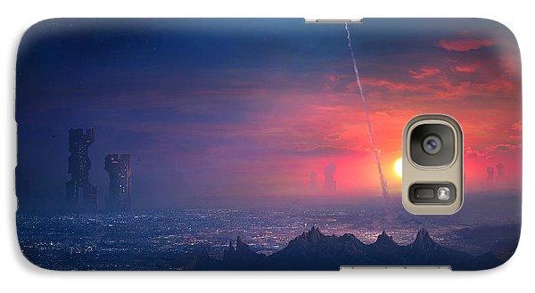 Barcelona Galaxy S7 Case - Barcelona Smoke And Neons Montserrat by Guillem H Pongiluppi