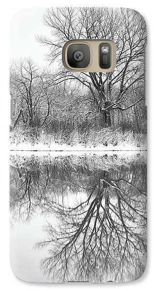 Galaxy Case featuring the photograph Bare Trees by Darren White