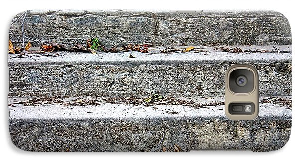 Galaxy Case featuring the photograph Barge Town Grocery Steps by KayeCee Spain