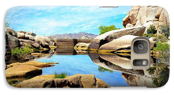 Galaxy Case featuring the photograph Barker Dam - Joshua Tree National Park by Glenn McCarthy Art and Photography