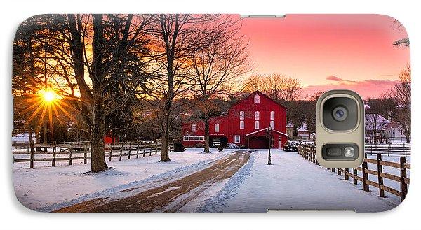 Beaver Galaxy S7 Case - Barn At Sunset  by Emmanuel Panagiotakis
