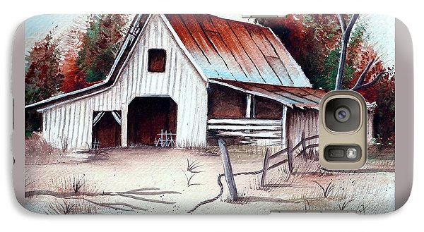 Galaxy Case featuring the painting Barn by Denise Fulmer