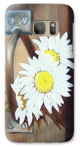 Galaxy Case featuring the painting Barn Door Daisies Sold by Susan Dehlinger
