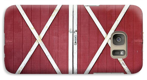 Galaxy Case featuring the photograph Red Barn Doors by Sheila Brown