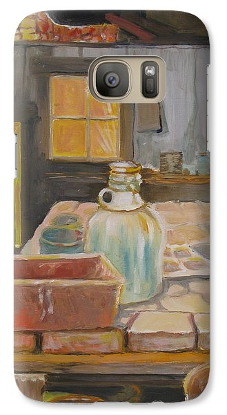 Galaxy Case featuring the painting Barn by Julie Todd-Cundiff
